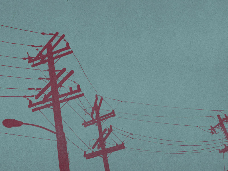 Wallpaper: San Francisco power poles