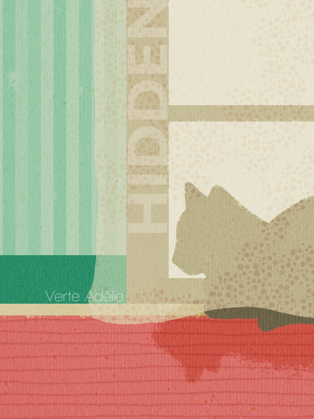 Illustration: a hidden cat, and the process from simple to complicated, and to simple again