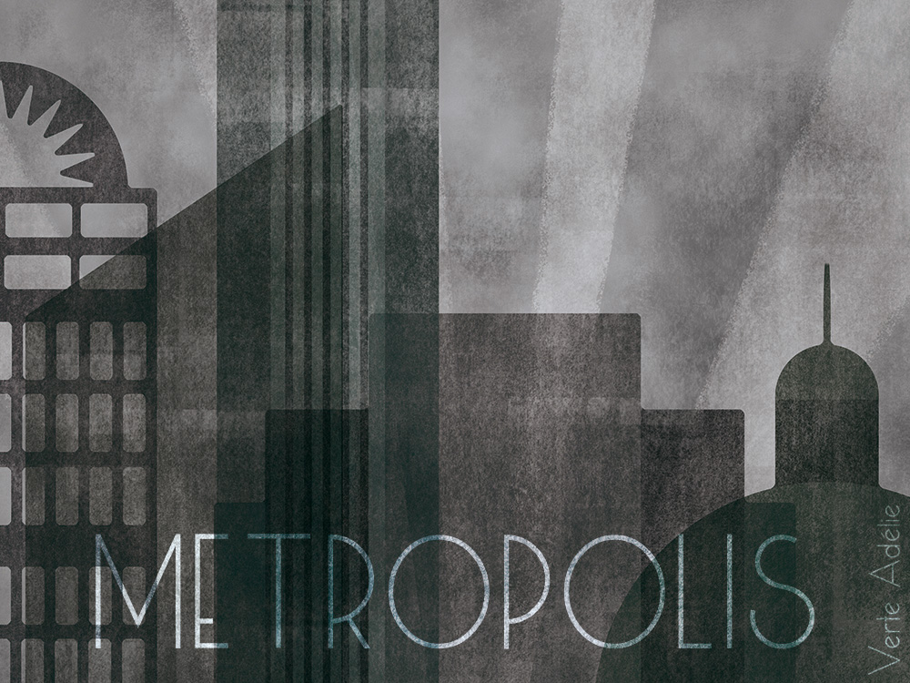 Illustration Friday: a dark, moody Metropolis