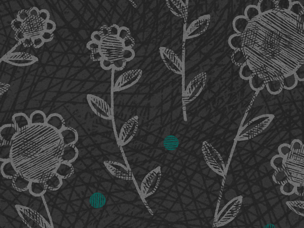 A dark flowery pattern